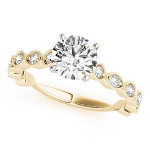 Annette Vintage Diamond Engagement Ring in 14K Yellow Gold