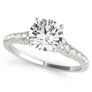 Iris Diamond Engagement Ring in 14K White Gold