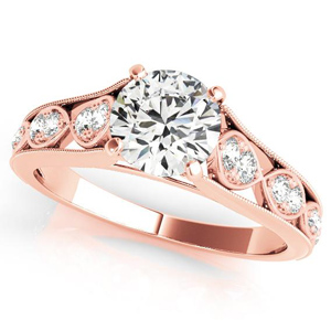 Gila Vintage Diamond Engagement Ring in 14K Rose Gold