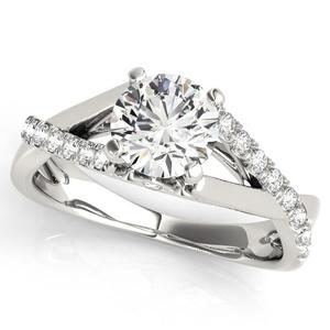 Dahlia Modern Diamond Engagement Ring in 14K White Gold