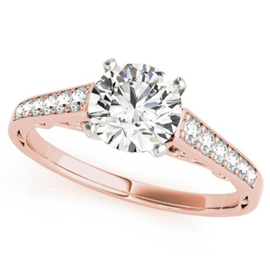 Lori Diamond Engagement Ring in 14K Rose Gold