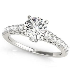 Sara Diamond Engagement Ring in 14K White Gold