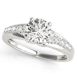 Felice Diamond Engagement Ring in 14K White Gold
