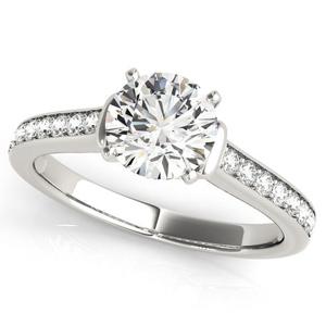 Charlene Diamond Engagement Ring in 14K White Gold