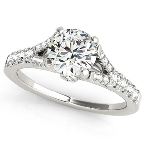 Holly Diamond Engagement Ring in 14K White Gold