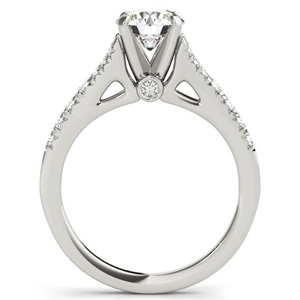 Holly Diamond Engagement Ring with Wedding Ring in 14K White Gold