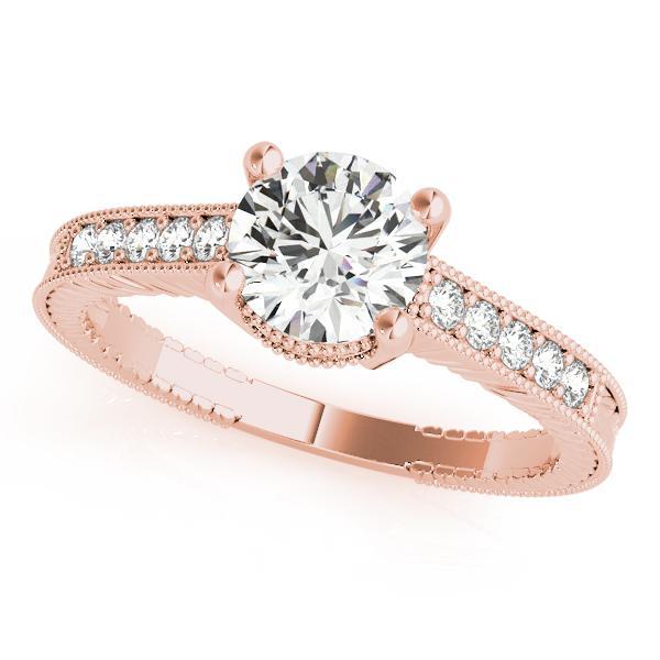 Sabrina Diamond Engagement Ring in 14K Rose Gold