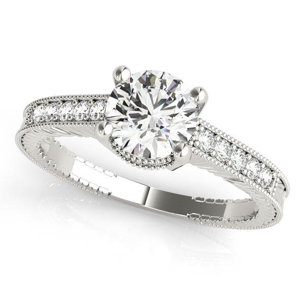 Sabrina Diamond Engagement Ring in 14K White Gold