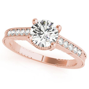 Sabrina Diamond Engagement Ring in 14K Rose Gold
