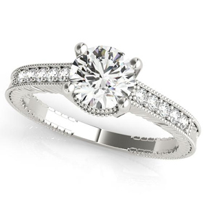 Sabrina Diamond Engagement Ring in 14K White Gold