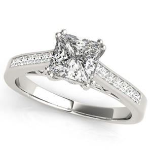 Aster Diamond Engagement Ring in 14K White Gold