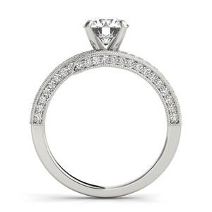 Maira Modern Diamond Engagement Ring in 14K White Gold