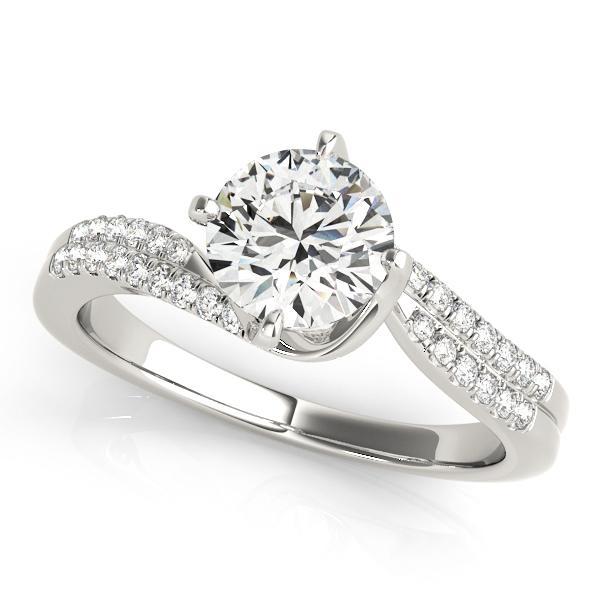 Esla Modern Diamond Engagement Ring in 14K White Gold