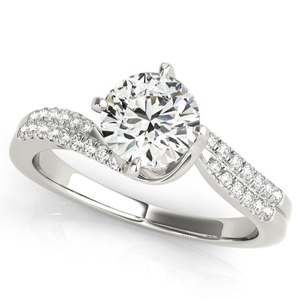 Esla Modern Diamond Engagement Ring in 14K White Gold