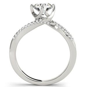 Esla Modern Diamond Engagement Ring with Wedding Ring in 14K White Gold