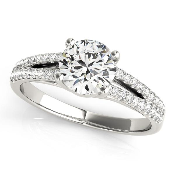 Kara DIamond Engagement Ring in 14K White Gold