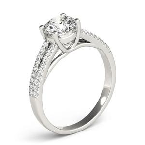 Kara DIamond Engagement Ring in 14K White Gold