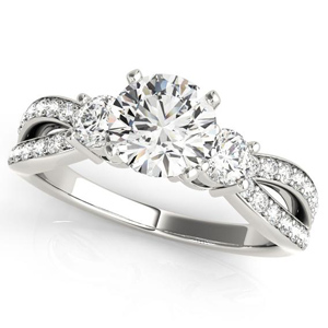 Sierra Modern Diamond Engagement Ring in 14K White Gold