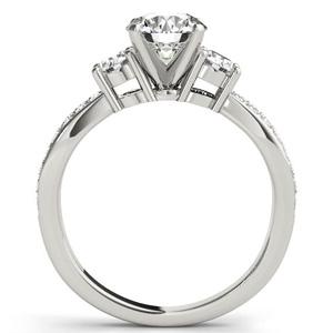 Sierra Modern Diamond Engagement Ring in 14K White Gold