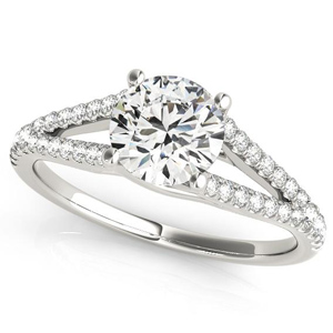 Prim Modern Diamond Engagement Ring in 14K White Gold