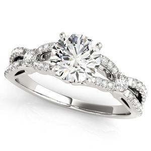 Jolie Modern Diamond Engagement Ring in 14K White Gold