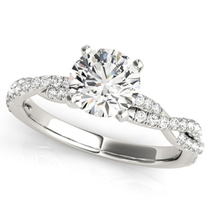 Viva Modern Diamond Engagement Ring in 14K White Gold