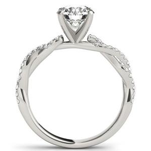 Viva Modern Diamond Engagement Ring in 14K White Gold