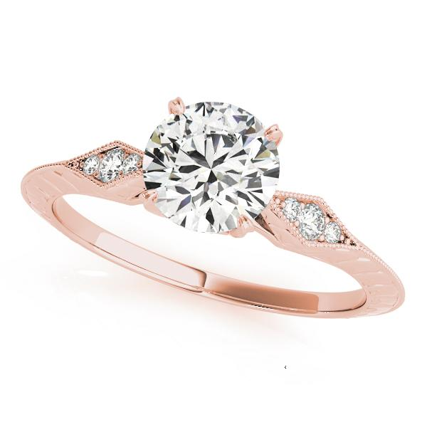 Chloe Vintage Diamond Engagement Ring in 14K Rose Gold