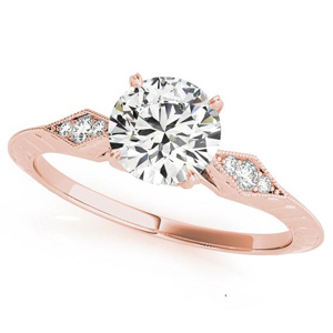 Chloe Vintage Diamond Engagement Ring in 14K Rose Gold