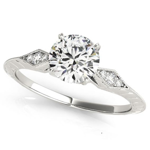 Chloe Vintage Diamond Engagement Ring in 14K White Gold