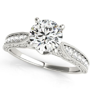 Layla Diamond Engagement Ring in 14K White Gold