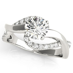 Grace Modern Diamond Engagement Ring in 14K White Gold