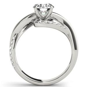 Grace Modern Diamond Engagement Ring in 14K White Gold