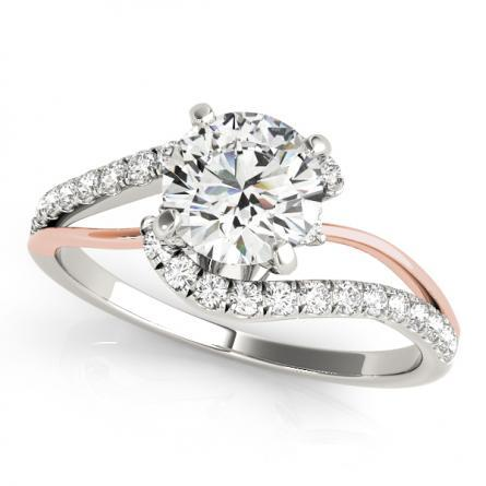 modern diamond bezel jeweler bridge rings set engagement wedding ben style