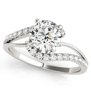 Evelyn Modern Diamond Engagement Ring in 14K White Gold