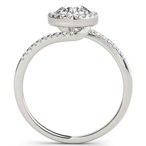Naomi Halo Diamond Engagement Ring in 14K White Gold