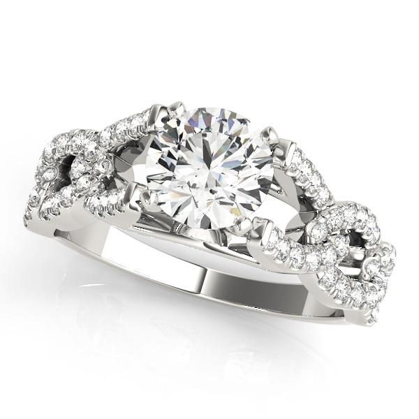 Valentia Diamond Engagement Ring in 14K White Gold