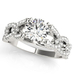 Valentia Diamond Engagement Ring in 14K White Gold