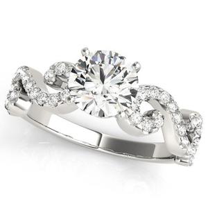 Natalie Modern Diamond Engagement Ring in 14K White Gold