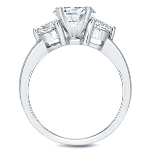 BAILEY Three Stone Engagement Ring In 14K White Gold