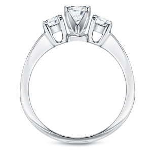 EMERSON Three Stone Engagement Ring In 14K White Gold