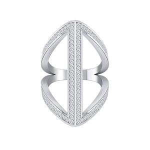 Fashion Diamond Ring In 14K White Gold