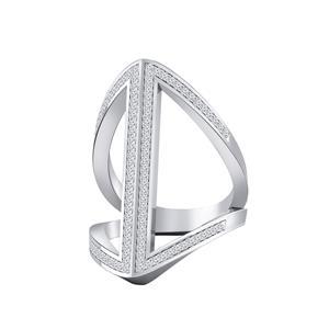Fashion Diamond Ring In 14K White Gold