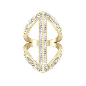 Fashion Diamond Ring In 14K Yellow Gold