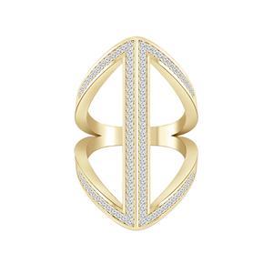 Fashion Diamond Ring In 14K Yellow Gold