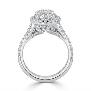 Oval Cut Halo Diamond Engagement Ring 5 1/4 cttw In 14k White Gold