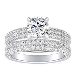 ALEXIA Classic Diamond Wedding Ring Set In 14K White Gold
