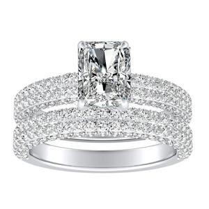 ALEXIA Classic Diamond Wedding Ring Set In 14K White Gold