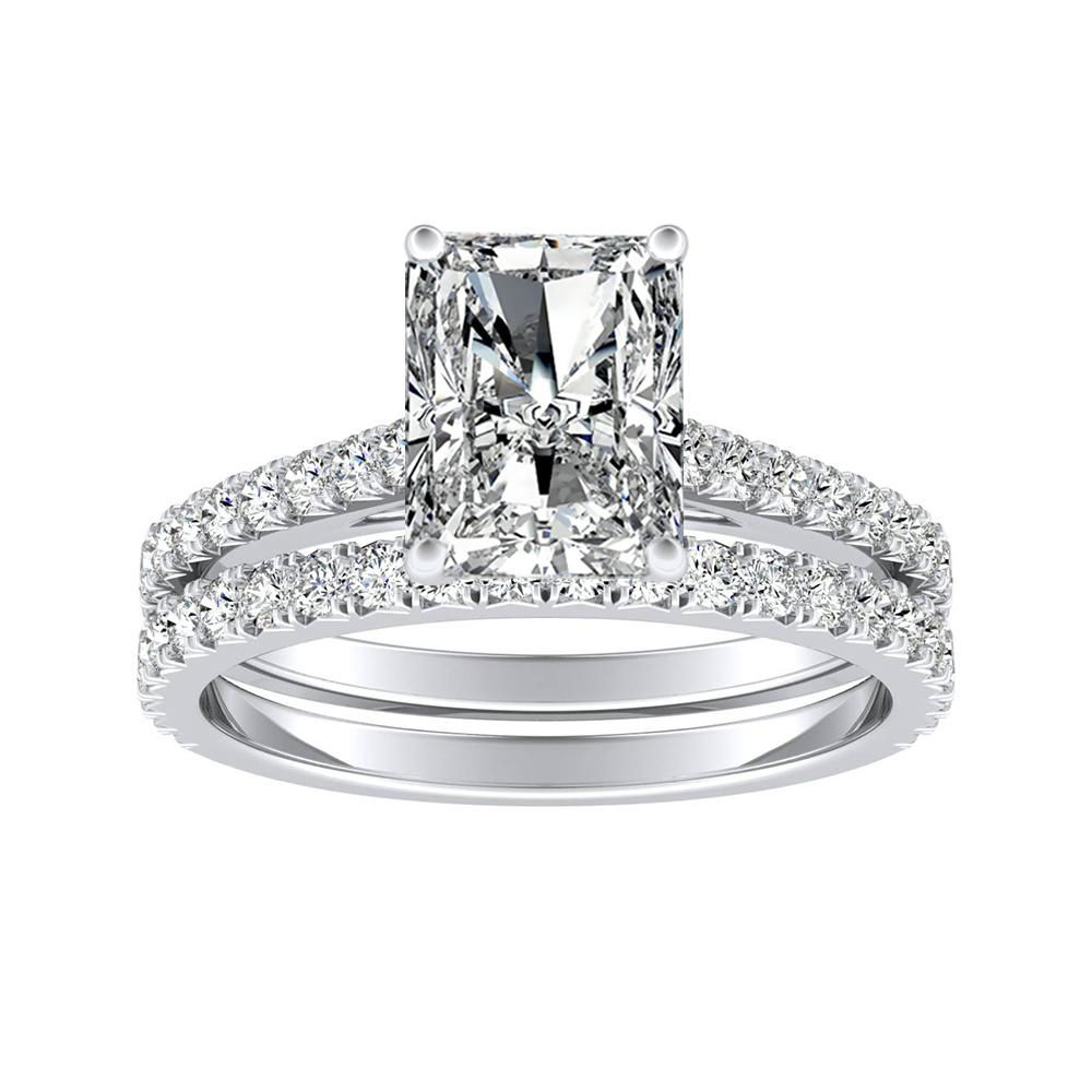 LIV Classic Diamond Wedding Ring Set In 14K White Gold