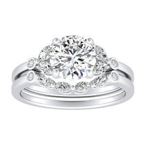 PRIMROSE Diamond Wedding Ring Set In 14K White Gold